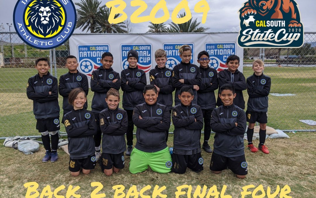 Boys 2009: Final 4 of State Cup.